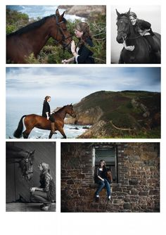 Great ideas for portraits with equine friends- that landscape one is unreal