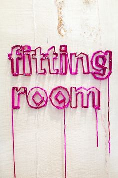 Possible way of using letters or images with thread going around the nails on the wall. It will create cozy and vintage feel.