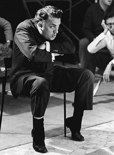Federico Fellini on the set by @RivieradiRimini