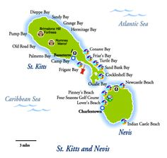 Map of St. Kitts and Nevis