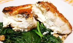 Feta Stuffed Chicken by skinnymom #Chicken #Feta #Light