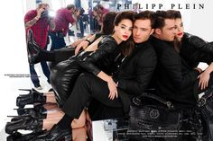 Ed Westwick and a very very lucky girl....~Philipp Plein Ad