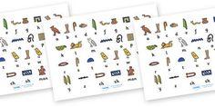 Ancient Egyptian Hieroglyphs Sheet - Ancient Egyptian, history, Egyptians, worksheet, activity, sheet, Egypt, pyramids, Pharaoh, hierogliphics, hieroglyphs, Tutankhamun, Giza, Dahshur, Mummy
