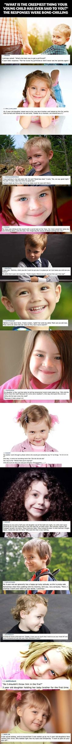 the creepy and scary things that children say --