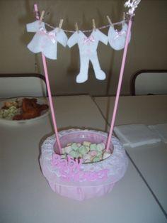 Centro de mesa baby shower
