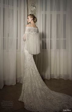 Harmony Gown with off-the-shoulder cape, Wedding Dress from Lihi Hod SS 2014 Bridal Collection