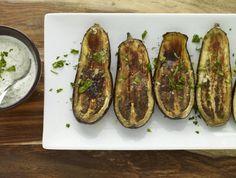 Roasted Eggplant with Garlic Yogurt Sauce Recipe