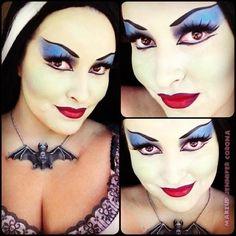 Lily Munster makeup