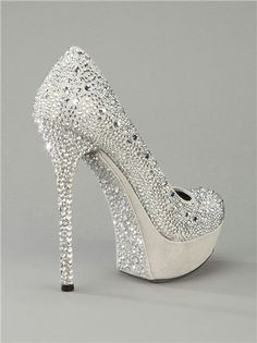 Stunning shoes for prom, homecoming, or pageants! #PromPlace #Shoes #Bling