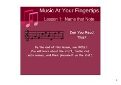 Teaching to read music