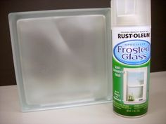 Rust-Oleum's Frosted Glass spray