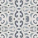 Michael S Smith for Ann Sacks Natural Stone Mosaic palais royale in calacatta oro, bianco carrara, marino blue, nero panthera, bardiglio medium and dark bardiglio