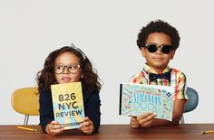 Warby Parker: We're toasting their branches in New York City and Los Angeles with the ultimate bookish accessory: 826 pairs of Kidd, available in both optical (an intellectual salute to NYC) and sun (for the brighter shores of L.A.).