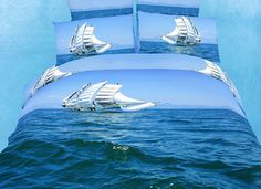 Bon Voyage Bedding Nautical Duvet Set Full/Queen DM482Q  $169 or XL Twin DM482T $139 by Dolce Mela