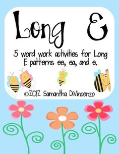 Your kids will love working on their long e words with this fun pack! Includes ee, ea, and e. Activity 1: Long E SortActivity 2:  Rolling...