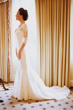 Gorgeous lace gown. Style Me Pretty | Gallery