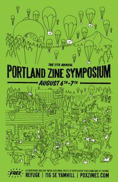 Portland Zine Symposium : Zech Bard #zines #zinsters #DIY #indie