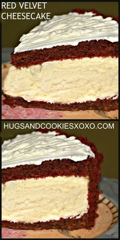 Red Velvet Cheesecake I HAVE to make!