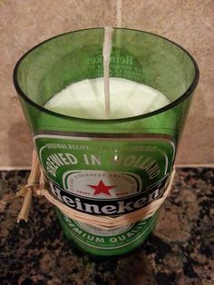 Heineken Beer Bottle Candle  Buy TWO get one FREE by CandlesByOC, $10.00