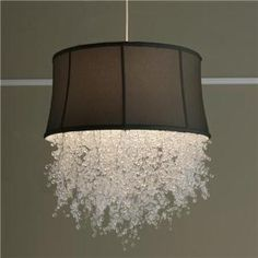 Chandelier dripping with crystals