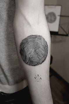 fingerprint, arm tattoos, pattern design inspiration, circl, tattoo eye, small tattoos, tattoo patterns, tattoo ink, design tattoo