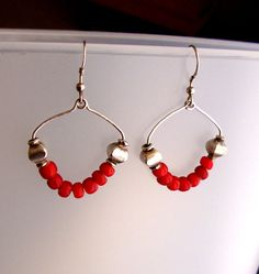 Jewelry Earrings Dangle Red White Hearts by CalliopeAZCreations, $22.00 #etsysns