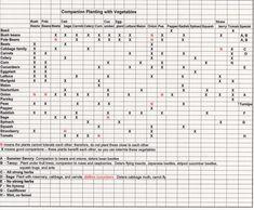 companion planting chart | Plants And Gardening Tips » Companion Planting Chart for Veggies
