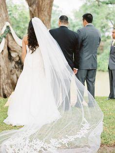Elegant Organic Texas Ranch Wedding. that veil!
