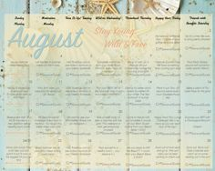 August Weekly Workout Schedule