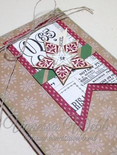 Star Christmas card using Bright and Beautiful stampset and Star Framelits - by Vanessa Webb #stampinupholidaycatalogue2014/15