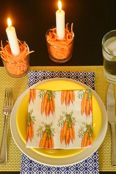Carrots, coconut, or jelly beans? 3 Easy Easter Table Decorations reluctantentertainer.com