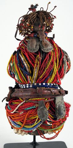 Old Beaded doll with Amulets, Fali, Cameroon | Image credit Anne Porteus