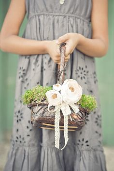 flower girl basket http://www.weddingchicks.com/2013/12/02/mccormick-home-ranch-wedding-3/
