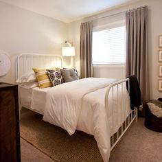 Easy neutral guest bedroom idea.