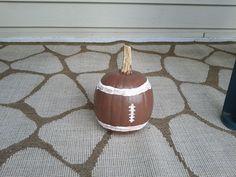 Football pumpkin pai