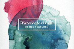 WatercolorWash Hi-Res Textures II ~ Textures on Creative Market