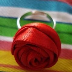 Ribbon Rose Ring {Gifts for Women}