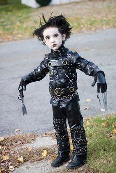 Kid Edward scissor hands. This is hilarious.