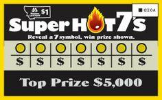 scratch ticket, super hot, hot 7s