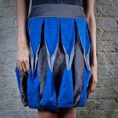 Origami Fashion - creative sewing inspiration; fabric manipulation for fashion design - bold origami skirt