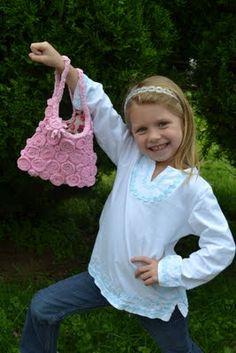 Recycled Tshirts purse