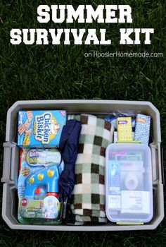 Summer Survival Kit | Details on HoosierHomemade.com