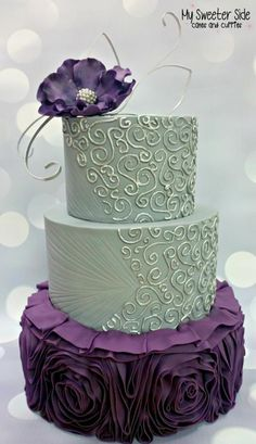 Ruffle Wedding Cake - Cake by Pam from My Sweeter Side