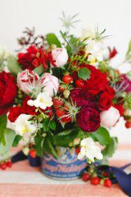 DIY Fourth of July Flower Arrangement - Style Me Pretty