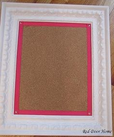 Cute for kids' rooms - just add a frame to a cork board... Gonna have to do this for my girl!