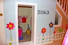 Achieving Creative Order: Basement Playroom-Playhouse Under the Stairs Creative Order, Kids Stuff, Plays Rooms, Basements Playrooms Playhouses, Achievement Creative, Basements Ideas, Under Stairs, Basement Playroom, Kids Rooms