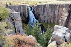North Clear Creek Falls, halfway between Creede and Lake City, Colorado on the Silver Thread National Scenic Byway.