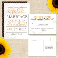 Manhattan in the Fall Wedding Invitation Suite with Postcard RSVP