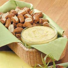 Mustard Pretzel Dip (Revised: 1 cup mayo, 1 cup sour cream, 1/2 cup sugar, 3/4 cup Grey Poupon w/ Horseradish (I use French's), 3 tbsp Horseradish Sauce (Kraft), 1 pkg Hidden Valley Ranch Mix)