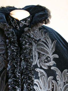 Detail of an opera cloak, Italian make, C1896.